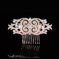 wedding hair combs aliexpress buy deco gold pearls rhinestones