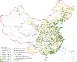 China Map Cities by The Sustainable Development Of Innovative Cities In China