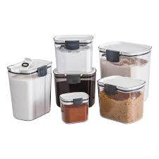 kitchen storage canister prokeeper 1 4 qt powdered sugar container the container store