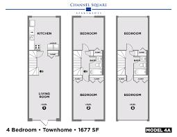 Four Square Floor Plan by Floor Plans U2013 Channel Square Apartments