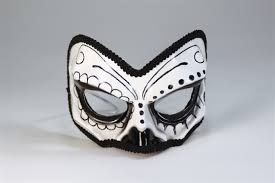 Day Of The Dead Mask Day Of The Dead Half Mask