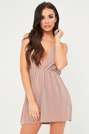 plunge dress plunge dresses v neck dress misspap
