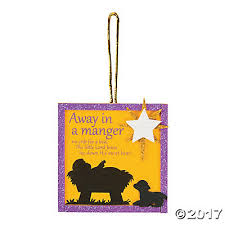 in a manger ornament craft kit