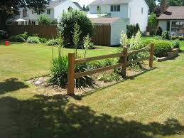 Fence Landscaping Ideas Exterior Design Pretty Wooden Split Rail Fence For Home