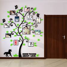 3d acrylic family tree wall stickers with photo frame living room 3d acrylic family tree wall stickers with photo frame living room green wall art decal home decoration in wall stickers from home garden on aliexpress com