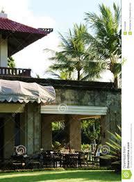 bali continental backyard cafe royalty free stock images image