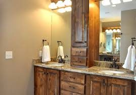 Mirror Bathroom Vanity Cabinet by Modern Rustic Bathroom Design Dark Brown Maple Teak Wooden Vanity