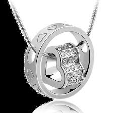 crystal ring necklace images Elements heart in ring necklace png