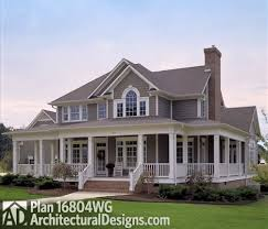 country farmhouse plans plan 16804wg country farmhouse with wrap around porch country