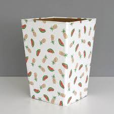 recycled pineapple and watermelon waste paper bin large by heart