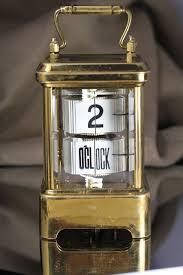 Ticket Desk 1902 Antique Brass Plato Flip Ticket Desk Clock From