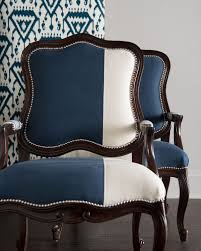Bergere Dining Chairs Massoud Madison U0026 Michael Colorblock Bergere Chairs Design Style