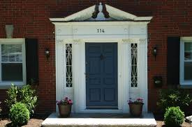Front Door Colors For White House Chocolate Front Door Color For Brick House Adorned With Metal