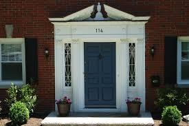 Navy Blue Front Door Red Front Door Color For Brick House Demonstrated Two Tones Floors
