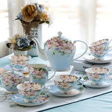 vintage tea set 21piece set delicate bone china coffee cup set european vintage