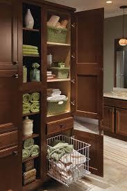 Linen Cabinets Linen Utility Cabinet With Hamper Homecrest