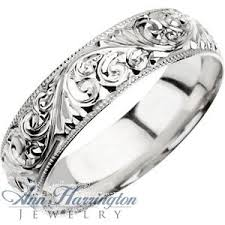 engravings for wedding rings platinum 6 mm women s and men s engraved wedding band 3