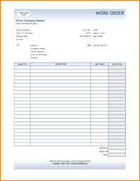 Construction Invoice Template Excel 8 Excel Order Form Template Receipt Templates