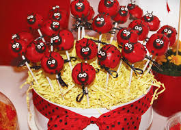 ladybug cake pops ladybug birthday party craft creative hostess with the mostess