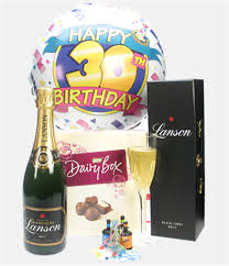 30th birthday delivery 30th birthday chagne and chocolates gift next day delivery