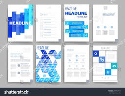 brochure design software brochure design template set templates design stock vector