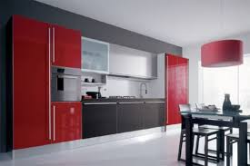 Red And Black Kitchen Cabinets by Black And Red Kitchen Designs Red Kitchen Cabinets Traditional