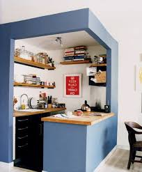 idea for a small kitchen space which would fit into the corner of