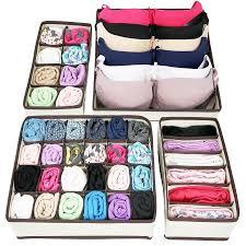 underwear organizer greenco collapsible underwear drawer divider closet organizer set
