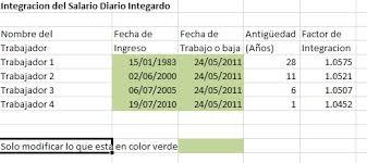 calculadora de salario diario integrado 2016 salario diario integrado imss calculos contables