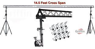 dj lighting truss package crank up triangle truss light stand system dj lighting trussing