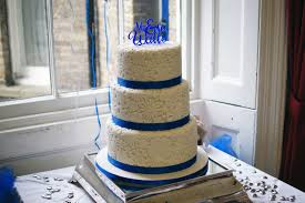 wedding cake royal blue royal blue flower st 3 tier wedding cake 1 bakealous