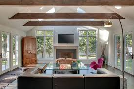 vaulted ceiling beams vaulted ceiling beams living room contemporary with corner hutch