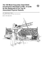 osha technical manual noise osha top 25 physical hazards occupational safety and health