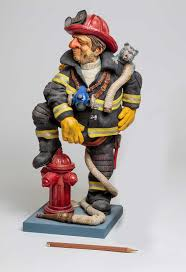 firefighter figurines guillermo forchino the firefighter