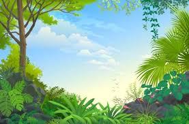 beautiful jungle landscape vector graphics 09 vector scenery