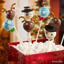 Easy Decoration For Christmas Cake by Cute Christmas Cake Pops How To Party City