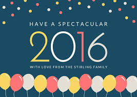 new year photo card balloon and confetti new year card templates by canva