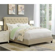 Upholstered Queen Bed Frame by Ansel Rolled Tufted Upholstered Queen Bed Frame