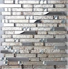 Kitchen Backsplash Tiles Glass Stainless Steel Tile Glass Mosaic Kitchen Backsplash Tiles Ssmt134