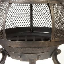 Chiminea Fire Pit Shop Oakland Living Cast Iron Outdoor Wood Burning Shop Oakland
