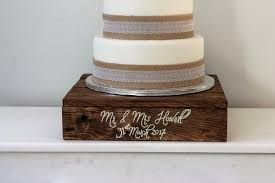 rustic wedding cake stands wedding cake stand wooden cake stand personalised wedding