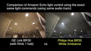 ge link light bulb ge link vs philips hue lights controlled by amazon echo youtube