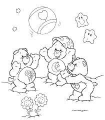 care bears playing gif 685 781 colouring pages children