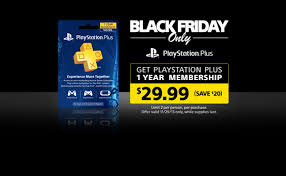 black friday deals for ps3 ps vita and ps plus playstation