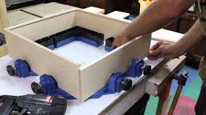 build a small cabinet with rockler u0027s clamp it corner clamping jig