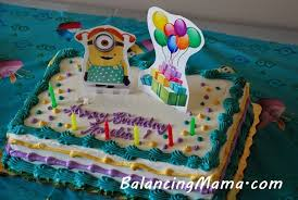 Minion Cake Decorations From Balancingmama Diy Custom Cake Toppers Any Favorite