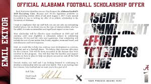 comparing the scholarship offer letters from alabama auburn
