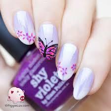 nail art piggieluv reciprocal gradient butterfly nail art for