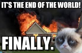 Meme End Of The World - it s the end of the world burn kitty meme on memegen