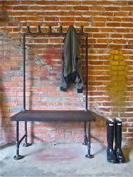 Entryway Bench With Rack Stylish Entryway Coat Rack For Ideal Solutions Storage Home